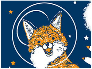 SPACE FOX! tote bag