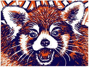 Red Panda Forever! Limited Edition Silkscreen Print