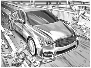 Infiniti Storyboards and Concept art