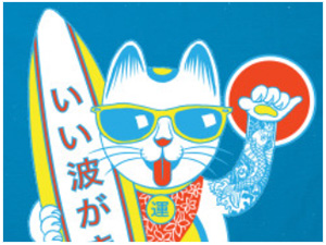 Surf Lucky Cat T-shirt