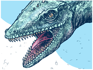 The First Dinosaur. Illustrated chapter book